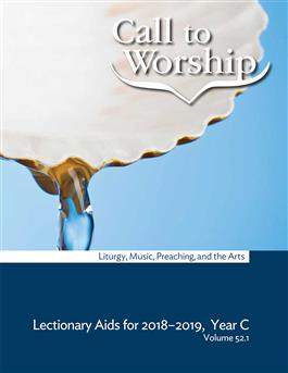 Call to Worship Vol 52.1 Subscription Year C