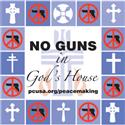No Guns in God's House Sign