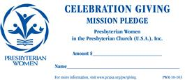 Presbyterian Women Pledge Collection Envelope Pack of 50