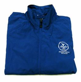 PW Logo Full-zip Navy Wind Jacket Large