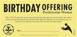 Birthday Offering Envelopes (Pack of 25) Limit of 10 packs