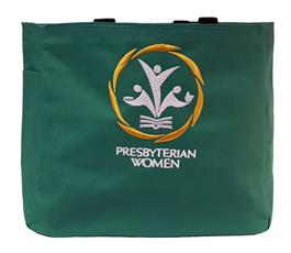PW Logo Tote Bag Kelly Green
